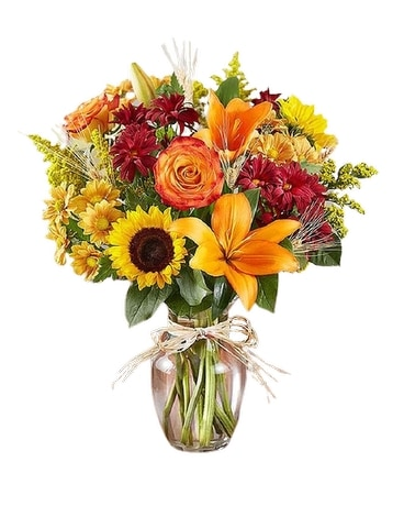 Oneco's Fall Fields of Europe Flower Arrangement