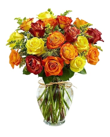 Oneco's Fall Roses Flower Arrangement