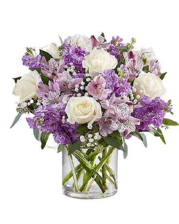 Lovely Lavender Medley Flower Arrangement