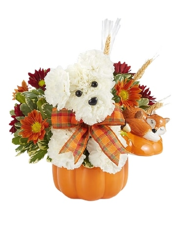 A-Dog-able for Fall Flower Arrangement