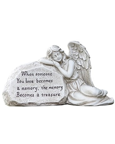 Memory Angel Stone Flower Arrangement