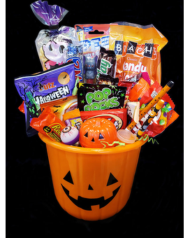 Spooktacular Pumpkin Treat Bucket Gift Basket