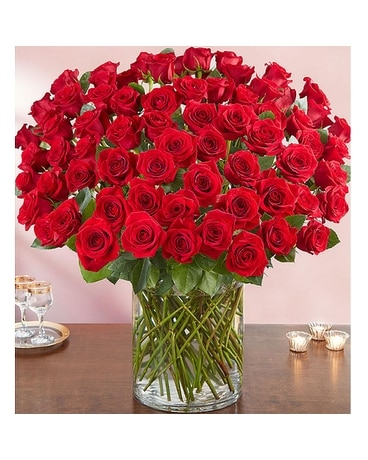100 red roses Flower Arrangement