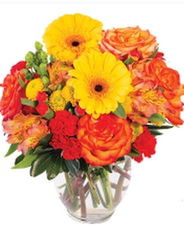 Amber Awe Flower Arrangement