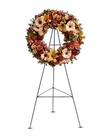 Wreath of Remembrance Flower Arrangement
