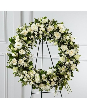 Splendor Wreath Funeral Arrangement