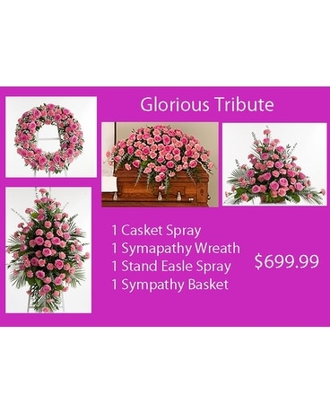 Glorious Tribute Tribute Funeral Casket Spray Flowers