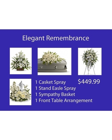 Elegant Remembrance Package Funeral Casket Spray Flowers