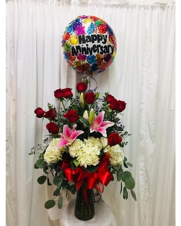 Long Stemmed Roses Upgrade Flower Arrangement