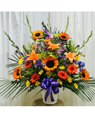 Sympathy For Man Flower Arrangement