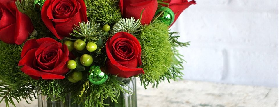 George K. Walker Christmas and Holiday Flowers Banner