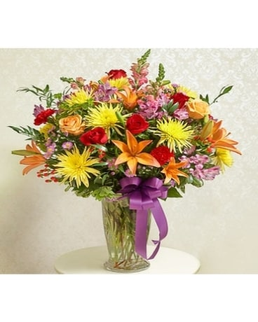 Multicolor Large Vase Arrangement