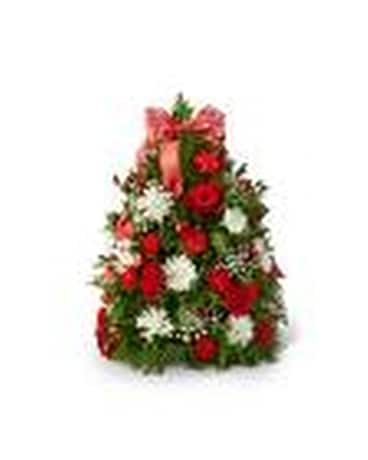 Make it Merry Tree Flower Arrangement