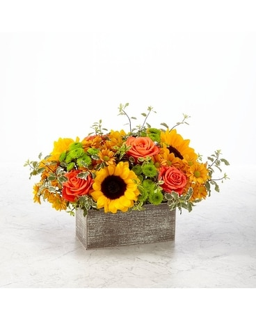 Garden Gathered Bouquet Deluxe Funeral Arrangement