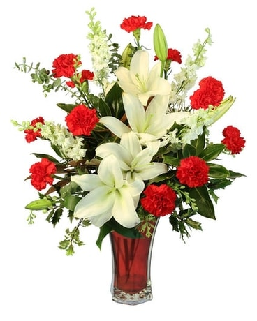 Starry Holiday Deluxe Flower Arrangement