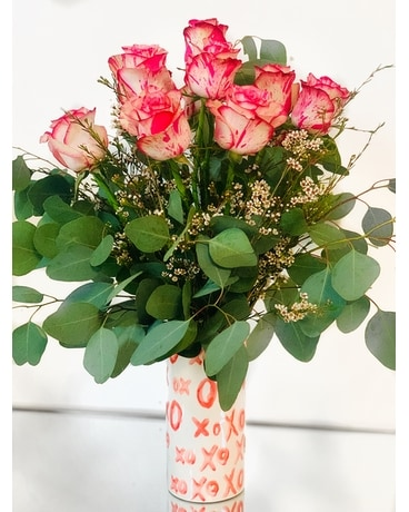 Dozen XO Roses Flower Arrangement