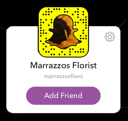 Marrazzo's Manor Lane Florist SnapChat