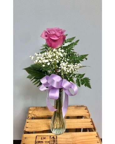 A Single Lavender Rose Flower Arrangement
