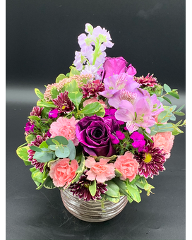 Purple Passion Floral Flower Arrangement
