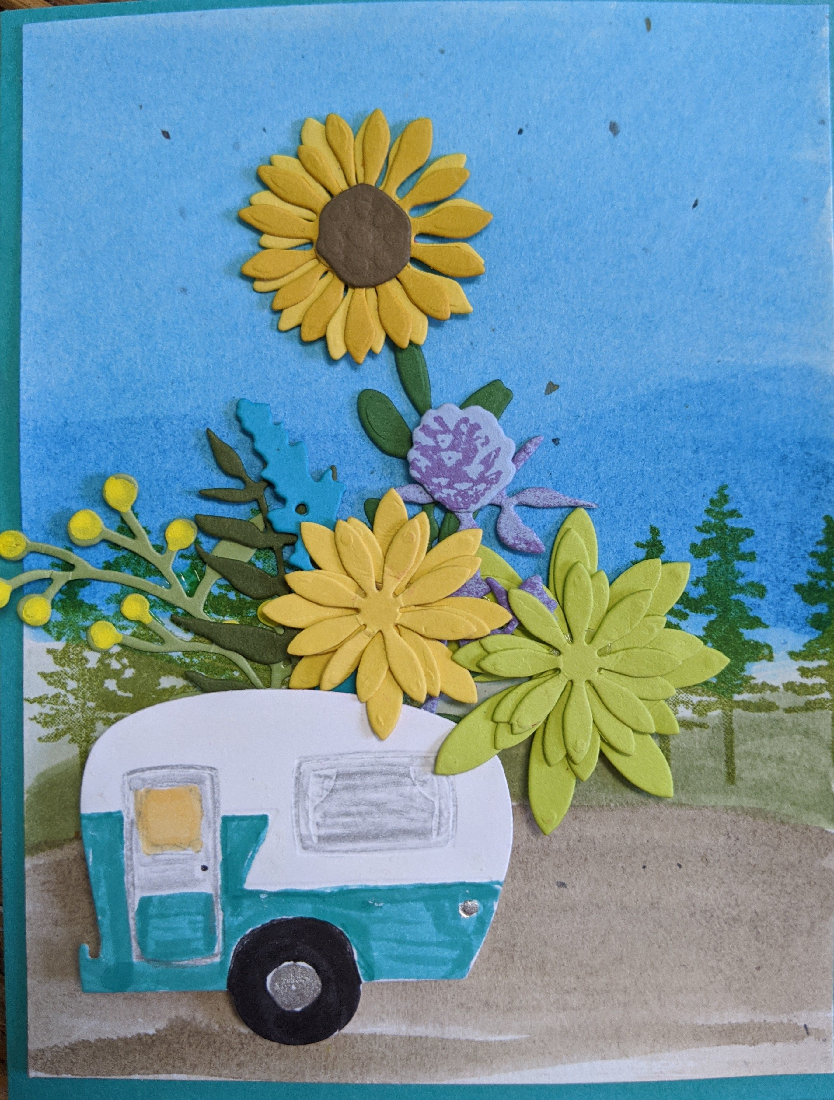 Handmade Card for Retro Road Tripper/ Vintage Vacationer