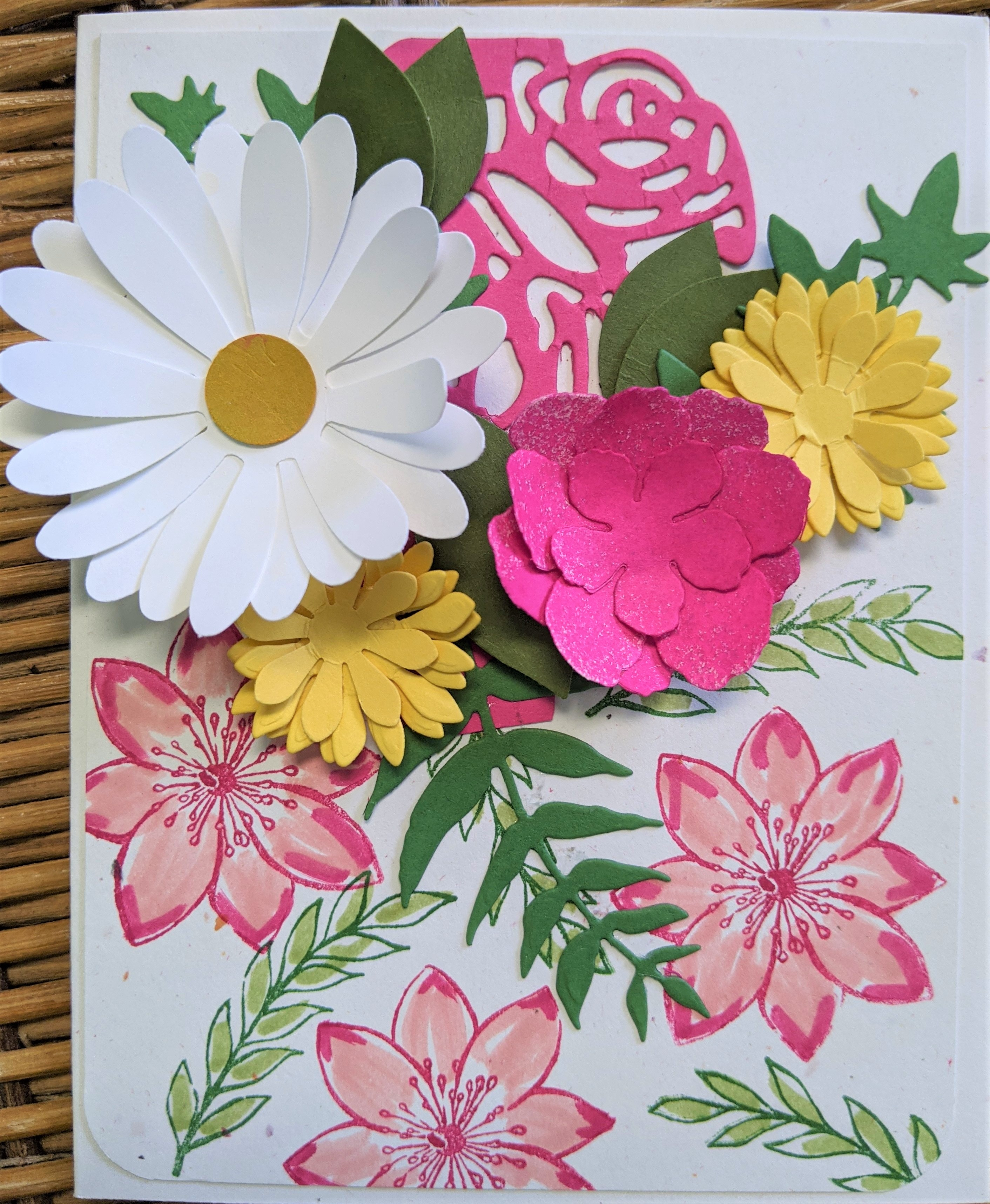 Handmade Card for Butterflies and Posies