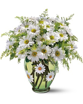Teleflora's Crazy for Daisies Bouquet Flower Arrangement