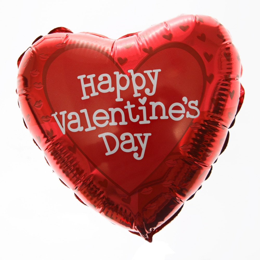 Mylar Balloon Happy Valentine's Day