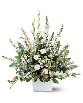 White Expressions Basket Flower Arrangement