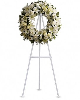 Serenity Wreath Flower Arrangement