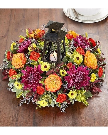 Brilliant Autumn Centerpiece Flower Arrangement