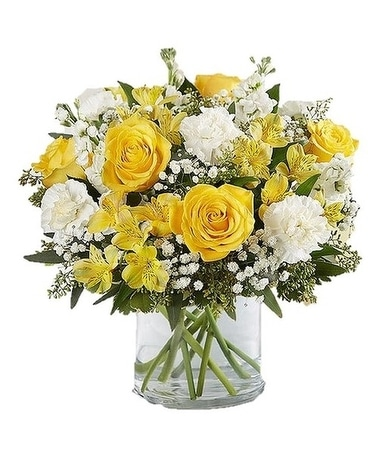 Yellow & White Delight Bouquet Flower Arrangement
