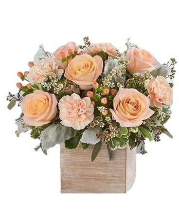 Perfectly Peach Flower Arrangement