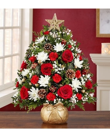 The Magic of Christmas Holiday Flower Tree Flower Arrangement