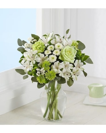 Serene Green by Agnew Florist Flower Arrangement