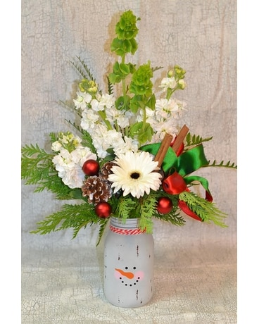 Country Frost Flower Arrangement