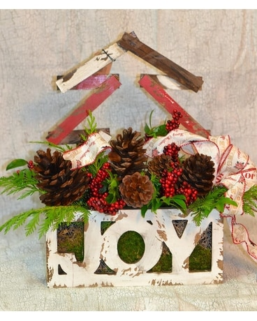 Joy to the World Flower Arrangement