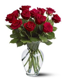12 Red Roses Flower Arrangement