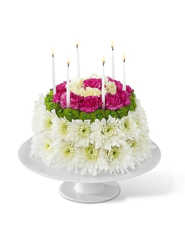 Rollasons Birthday Wishes Floral Cake Flower Arrangement