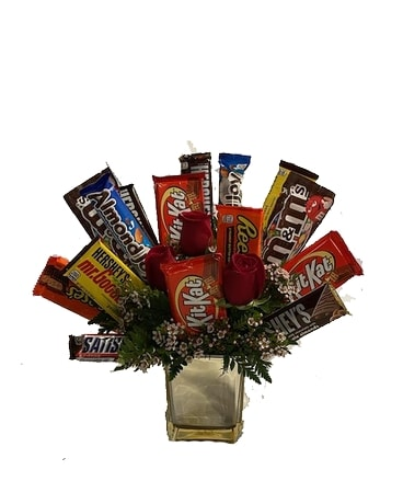 Candy Cube Gift Basket