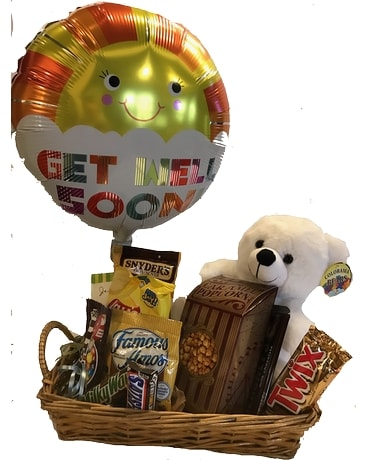 Get Well Soon Basket Gift Basket