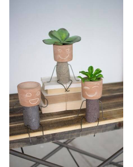 Shelf Rock Pot Heads Dish Garden Plant