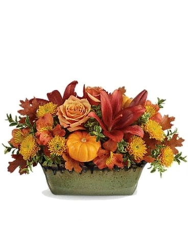 Country Oven Flower Arrangement