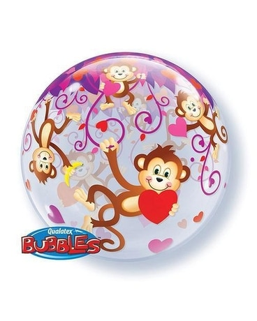 Monkey Bubble 22 inch Balloon Gifts