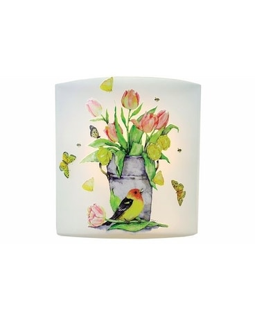 Spring Song Pre-Lit Glass Vase Gifts