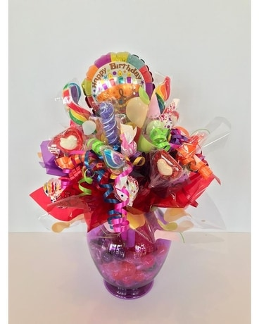 Sweet Treats Vase Gift Basket