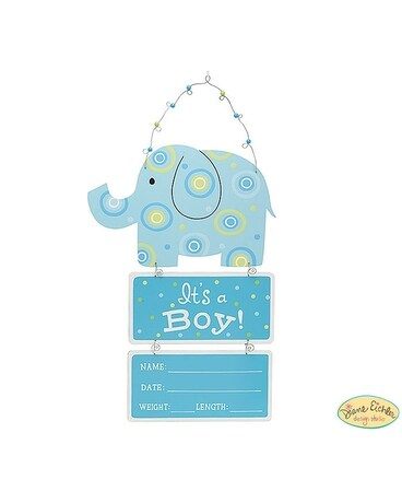 Baby Boy Elephant Wall Hanging Gifts