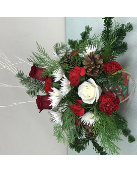 bright and fresh in a star Flower Arrangement