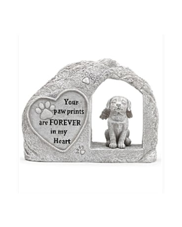 Dog In Stone With Heart