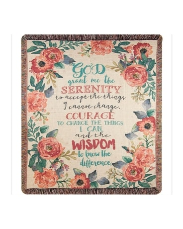 Serenity Prayer Floral Flower Arrangement