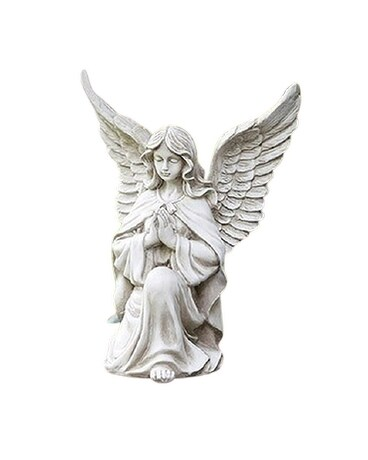 Kneeling Praying Angel Flower Arrangement